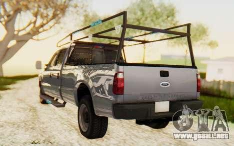 Ford F-250 XL 2002 para GTA San Andreas left