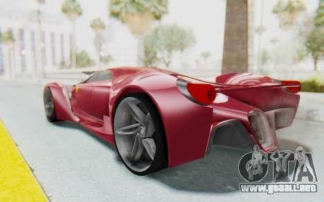 Ferrari F80 Concept para GTA San Andreas left