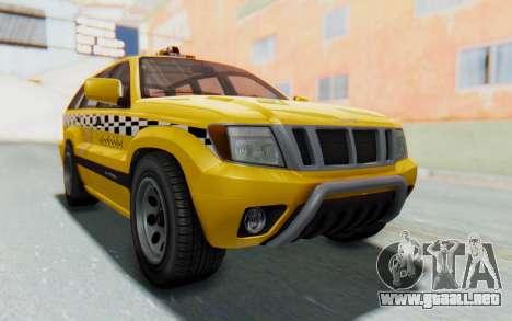 Canis Seminole Taxi para GTA San Andreas