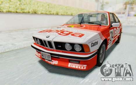 BMW M635 CSi (E24) 1984 IVF PJ2 para las ruedas de GTA San Andreas
