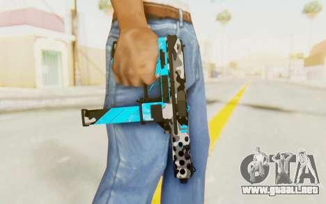 Tec-9 Neural Blue para GTA San Andreas tercera pantalla