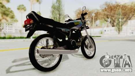 Yamaha RX King 135 1993 para GTA San Andreas vista posterior izquierda