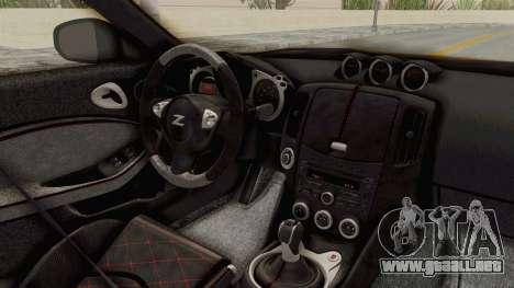 Nissan 370Z Nismo Z34 para visión interna GTA San Andreas