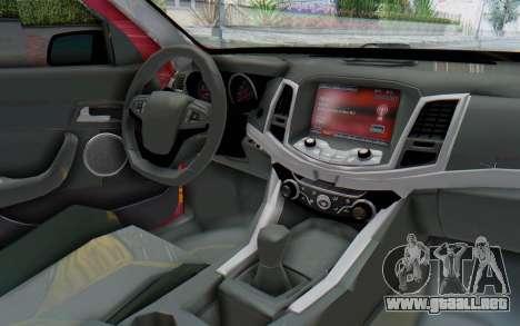 Chevrolet Super Sport 2014 para visión interna GTA San Andreas