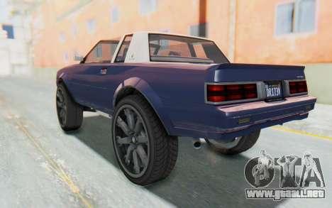 GTA 5 Willard Faction Custom Donk v3 IVF para GTA San Andreas left
