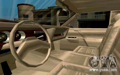 Tahoma Limousine v2.0 (HD) para GTA San Andreas vista hacia atrás