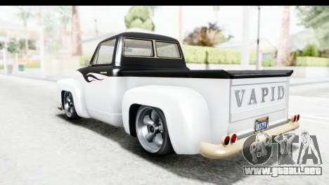 GTA 5 Vapid Slamvan Custom para GTA San Andreas interior