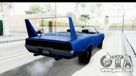 Dodge Charger Daytona 1969 Cabrio para GTA San Andreas left