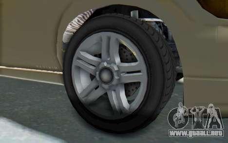 GTA 5 Vapid Minivan IVF para GTA San Andreas vista hacia atrás
