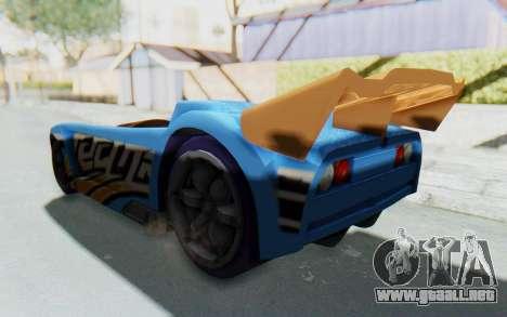 Hot Wheels AcceleRacers 1 para GTA San Andreas vista posterior izquierda