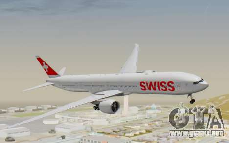 Boeing 777-300ER Swiss Global Air Lines para GTA San Andreas vista posterior izquierda
