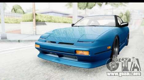 Nissan 240SX 1989 v2 para GTA San Andreas vista posterior izquierda