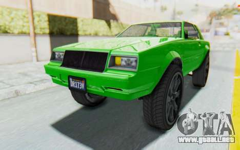 GTA 5 Willard Faction Custom Donk v3 para GTA San Andreas vista posterior izquierda