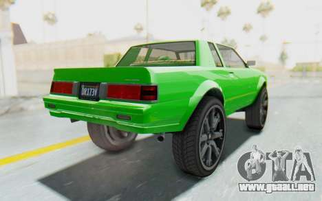 GTA 5 Willard Faction Custom Donk v3 para la visión correcta GTA San Andreas