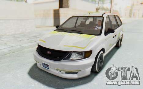 GTA 5 Vapid Minivan Custom without Hydro para vista inferior GTA San Andreas
