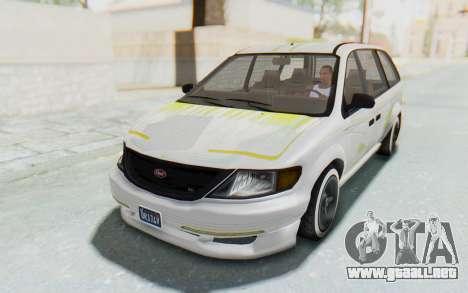 GTA 5 Vapid Minivan Custom para vista inferior GTA San Andreas
