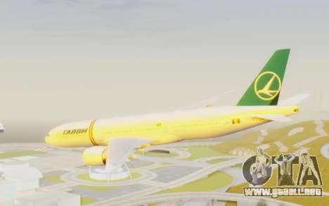 Boeing 777-200 TAROM Romania para la visión correcta GTA San Andreas