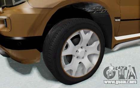 BMW X5 Pickup para GTA San Andreas vista hacia atrás