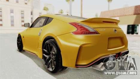Nissan 370Z Nismo Z34 para GTA San Andreas left