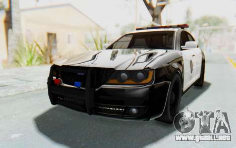 ASYM Desanne XT Pursuit v1 para la visión correcta GTA San Andreas