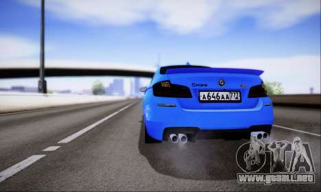 BMW M5 F10 G-Power para visión interna GTA San Andreas