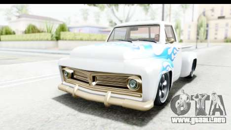 GTA 5 Vapid Slamvan Custom para vista lateral GTA San Andreas