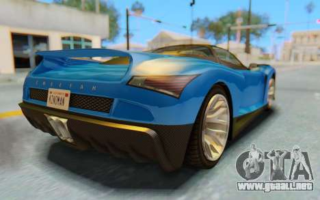 GTA 5 Grotti Cheetah SA Lights para la vista superior GTA San Andreas