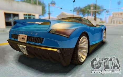 GTA 5 Grotti Cheetah SA Lights para la vista superior GTA San Andreas