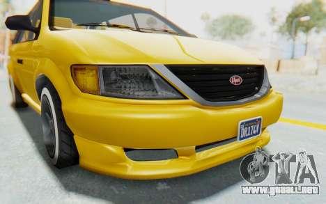 GTA 5 Vapid Minivan Custom IVF para la vista superior GTA San Andreas