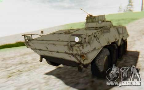 MGSV Phantom Pain STOUT IFV APC Tank v2 para GTA San Andreas vista hacia atrás