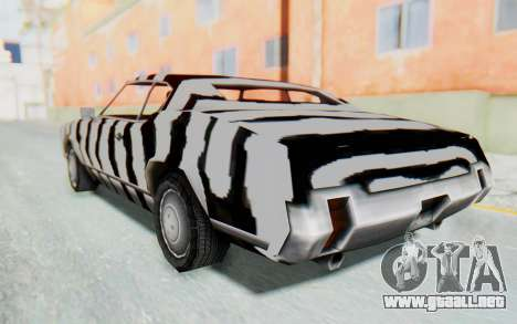 White Zebra Sabre Turbo para GTA San Andreas left