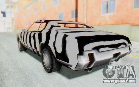 White Zebra Sabre Turbo para GTA San Andreas left