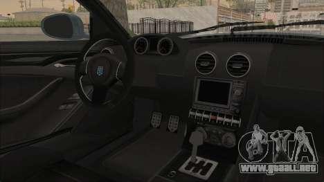 GTA 5 Grotti Bestia GTS v2 SA Lights para visión interna GTA San Andreas