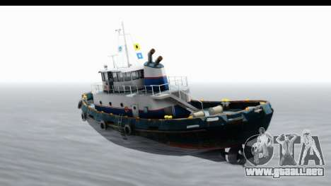 GTA 5 Buckingham Tug Boat v2 IVF para GTA San Andreas left