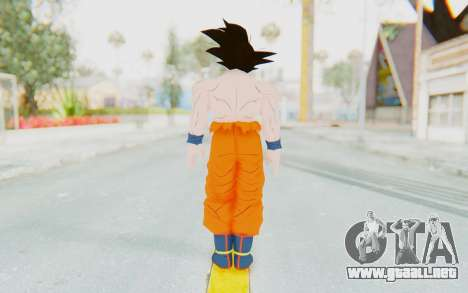 Dragon Ball Xenoverse Goku Shirtless SJ para GTA San Andreas tercera pantalla