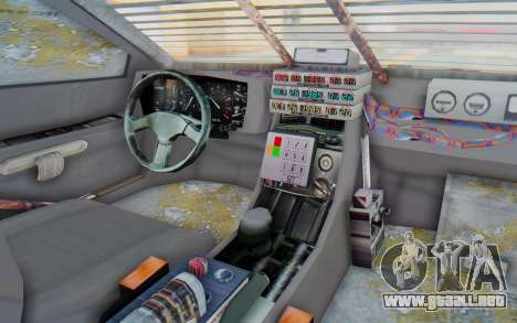 DeLorean DMC-12 2012 End Of The World para visión interna GTA San Andreas