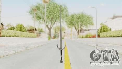 The Witcher 3: Wild Hunt - Sword v2 para GTA San Andreas segunda pantalla
