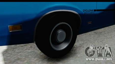 Mercury Cyclone Spoiler 1970 para GTA San Andreas vista hacia atrás