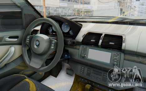 BMW X5 Pickup para visión interna GTA San Andreas