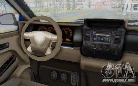 GTA 5 Vapid Minivan Custom para visión interna GTA San Andreas