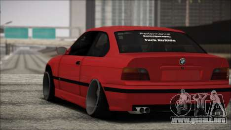 BMW E36 Stance para GTA San Andreas vista hacia atrás