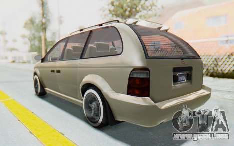 GTA 5 Vapid Minivan Custom without Hydro IVF para GTA San Andreas left