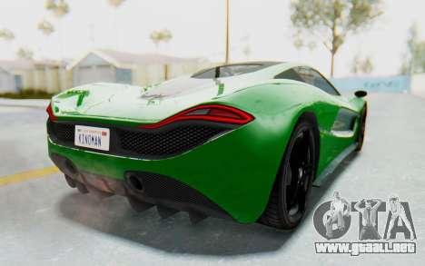 GTA 5 Progen T20 Devil PJ para GTA San Andreas left