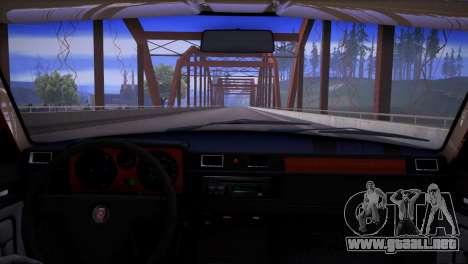 V8 GAS 31029 para GTA San Andreas vista hacia atrás