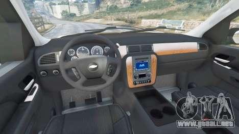 GTA 5 Chevrolet Tahoe vista lateral derecha