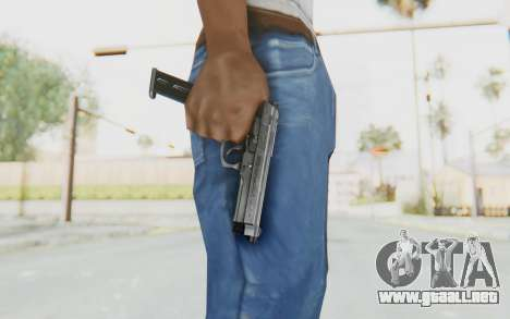 Tariq Iraqi Pistol Back v1 Silver Long Ammo para GTA San Andreas tercera pantalla
