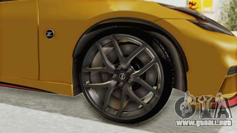 Nissan 370Z Nismo Z34 para GTA San Andreas vista hacia atrás