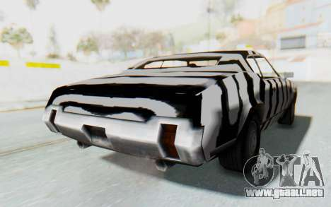 White Zebra Sabre Turbo para GTA San Andreas vista posterior izquierda