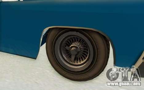 GTA 5 Declasse Voodoo PJ para GTA San Andreas vista hacia atrás