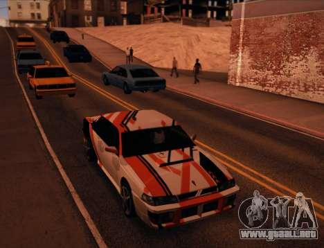Sultan Asiimov para GTA San Andreas vista posterior izquierda